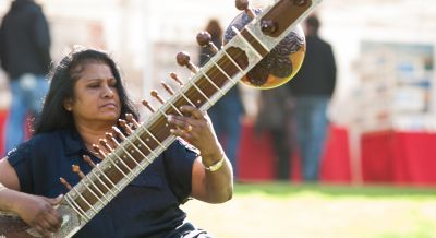 One of our sitar teachers - Thilaka.
