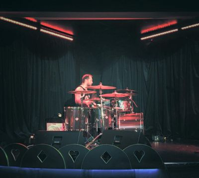 Drum clinic performance at Cellar Bar