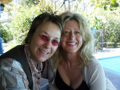 With Nashville songwriter Mary Gauthier in Costa Rica (see her website)