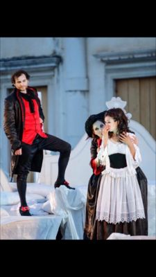 As Zerlina in Opera Don Giovanni, Trieste, Italy