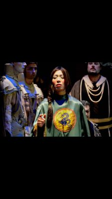 As Liu in opera Turandot, Bergamo, Italy